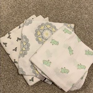Set of three Aden+Anais Swaddle Blankets